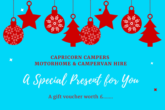Capricorn Campers Christmas voucher
